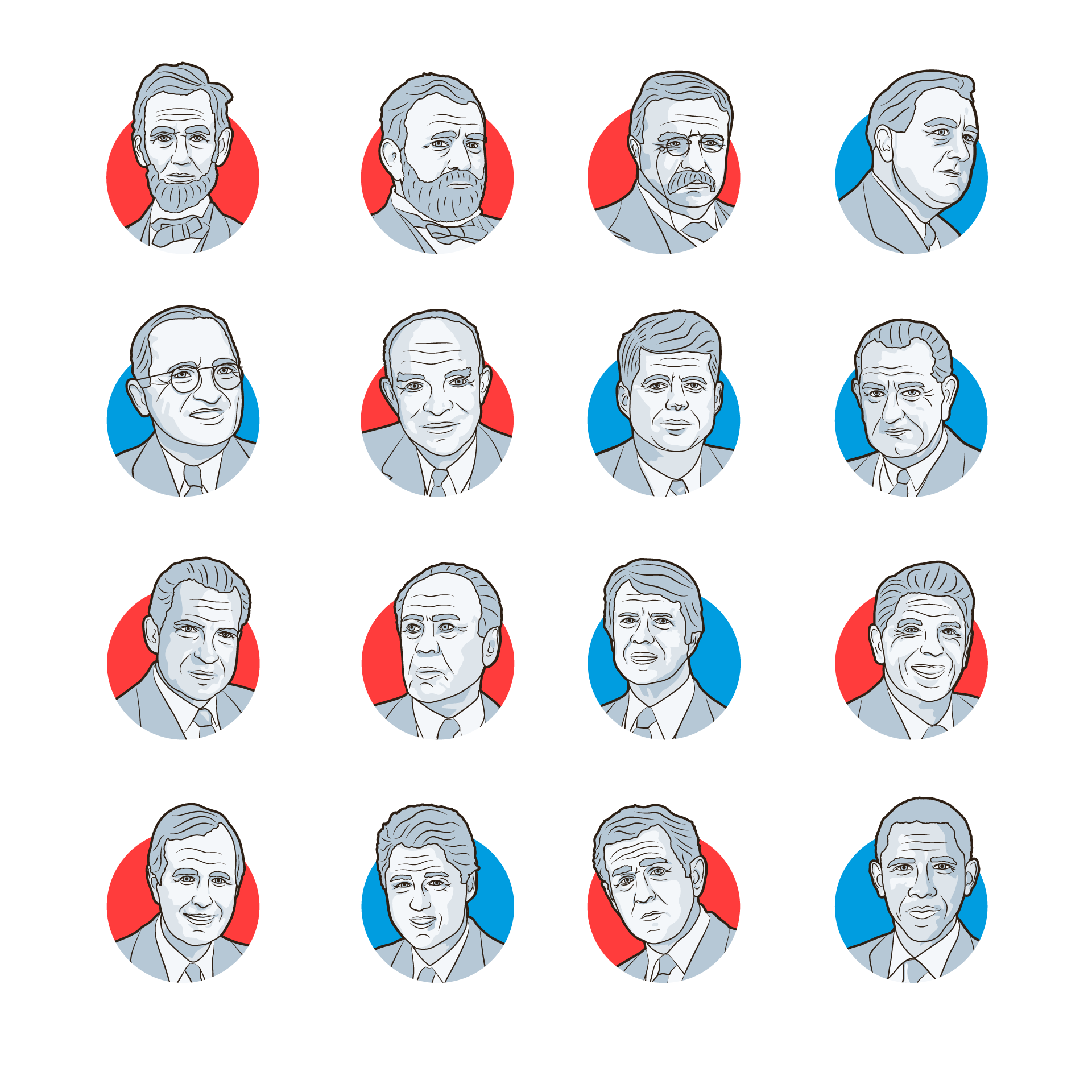 us-presidents-illustration